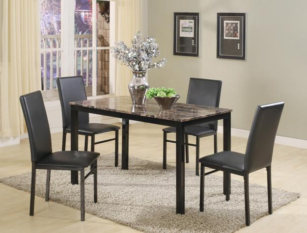 5pc dining set including one dining table and four chairs only 149