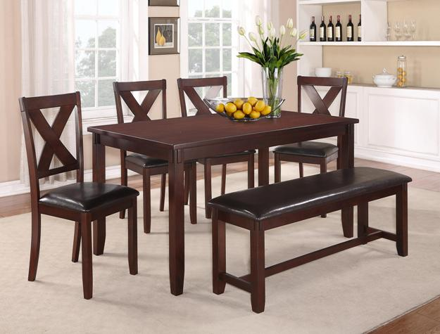 5 PC Dining Set Including Dinette Table, 4 Chairs And One Bench Only $349!!!