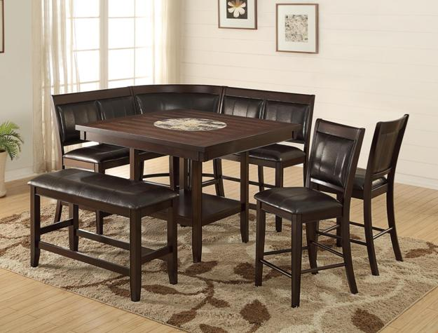 5 pc counter height dining table set images