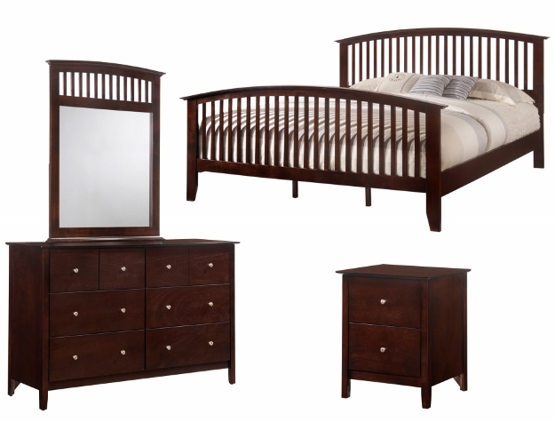 queen espresso wood bed brand new blowout sale 199. Black Bedroom Furniture Sets. Home Design Ideas